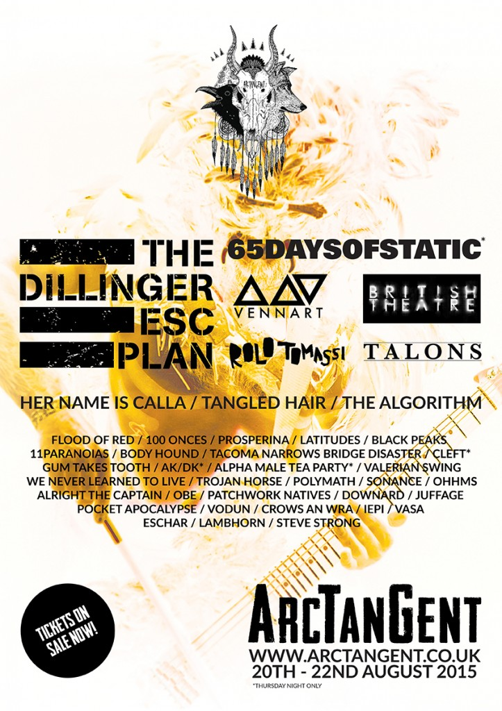 ArcTanGent Line Up Announcement 310115