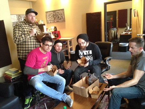 (KEN Mode recording their follow up to 2013's Entrench LP, eating poutine with Steve Albini)