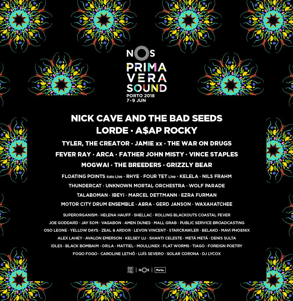 NOS PRIMAVERA SOUND 2018 LINEUP ANNOUNCED: NICK CAVE & THE BAD SEEDS